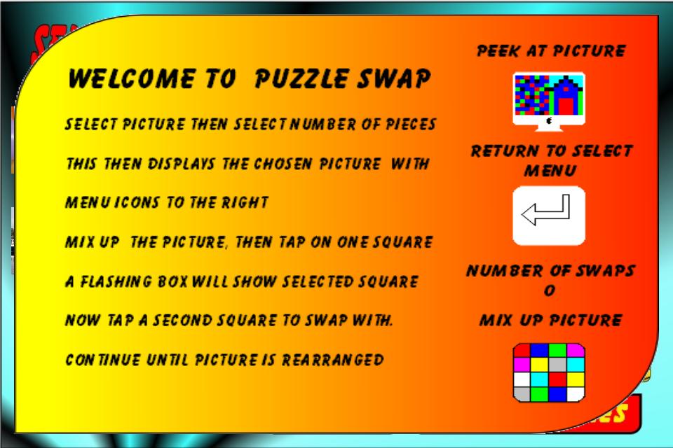 Screenshot Puzzle Swap